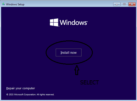 Fresh install windows 10